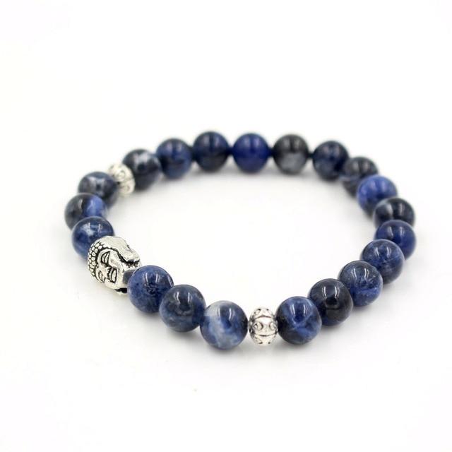 Bracelet En Sodalite Et Argent 925