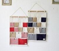 2016 Zakka 13 Pockets Wall Hanging Bags Multi Layer Wall Sundries Organizer Doors Sundries Organizer Wall