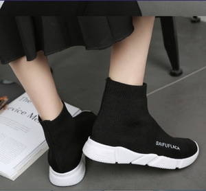 Image 4 - حذاء نسائي مرن موضة 2020 حذاء رياضة للمشي في الهواء الطلق حذاء مسطح للخروجات اليومية حذاء سميك من Zapatos De Mujer