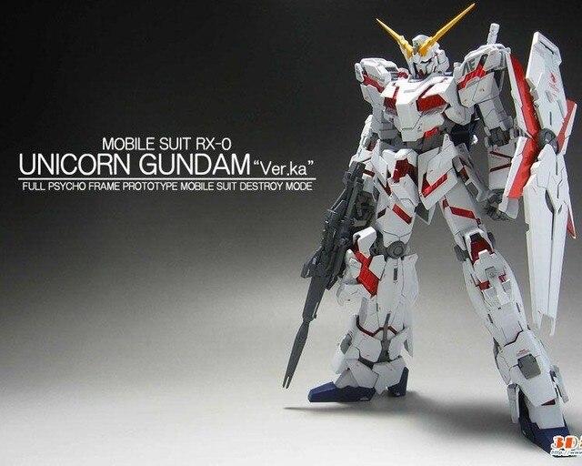 1:100 MG Gundam 20cm 1:100 MG Model Gundam Unicorn Assembled Gundam Model toy Free shipping