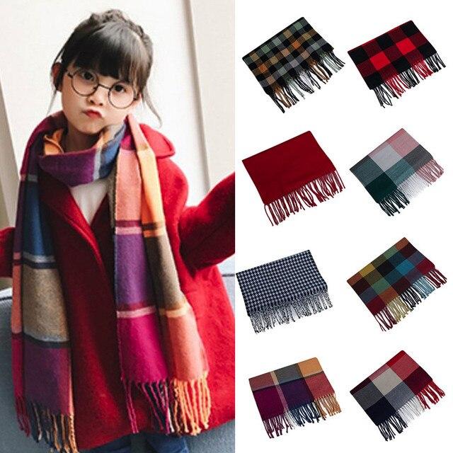 c084f10a4 Children s LIC Winter Scarf Fashion Baby Plaid Scarf Boy Girls ...