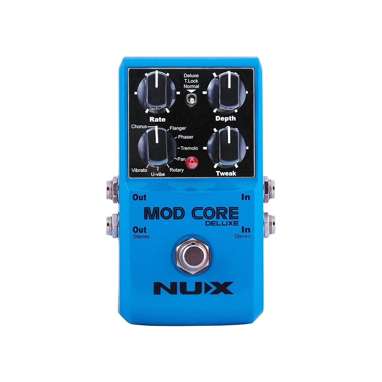 NUX Mod Core Роскошная Гитара педаль эффектов настоящий обход 8 эффектов модуляции заданный тон замок для электронной гитары и басов