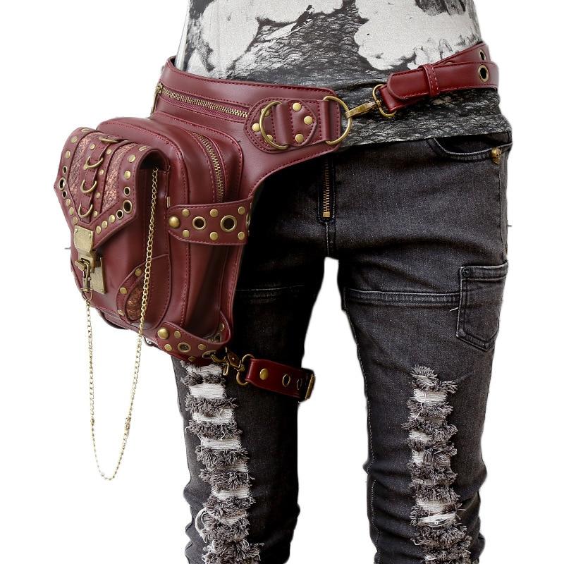 Carteras Mujer Läder Steam Punk Gothic Axelväska Män Women PU - Bälten väskor - Foto 2