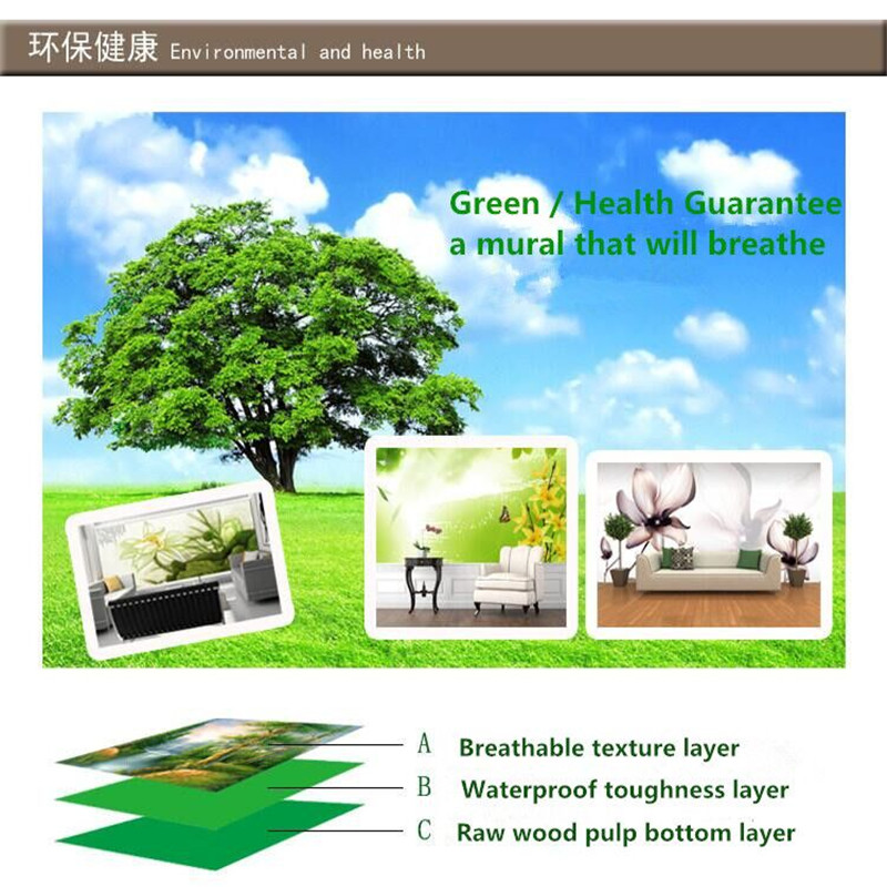 Wallpaper mural wall covering simple fashion sofa living room TV background wall family art high grade waterproof material in Wallpapers from Home Improvement