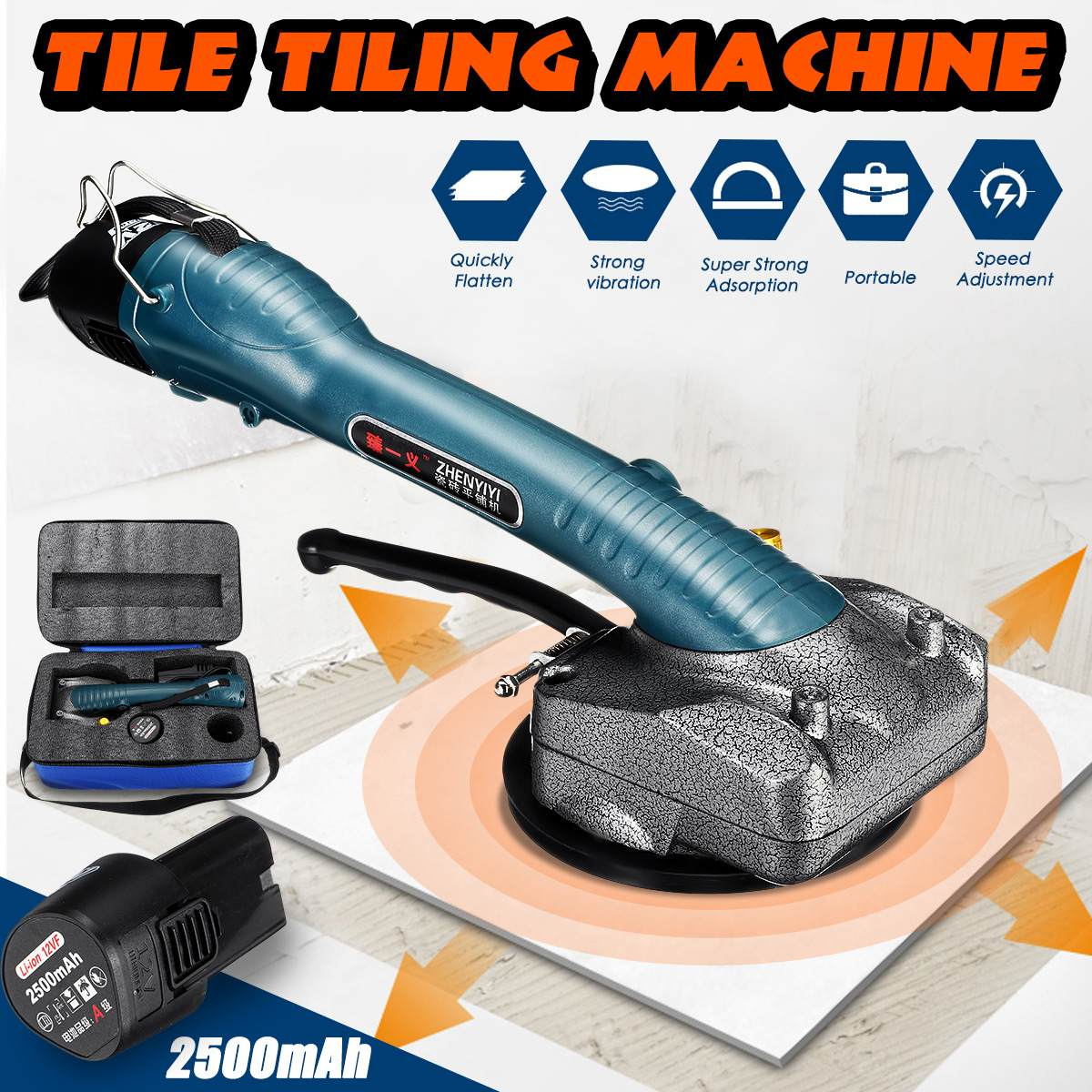 Portable Tile Vibrator For 100x100cm Tiles Floor Plaster Machine Tile Laying With Battery Automatic Floor Vibrator Leveling Tool