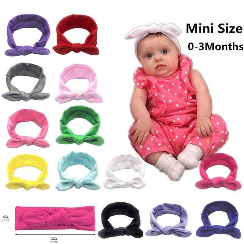 US $0.4 30% OFF|Boho Newborn Baby Headband Solid Color Turban Elastic  Headband Cute Rabbit Baby Hair Accessories Kids Hair Band on AliExpress
