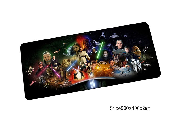 Star Wars коврик для мыши 900x400 мм коврик для мыши Закрытая край Notbook коврик для компьютерной мышки игровой padmouse геймер к клавиатуры и мыши коврик...