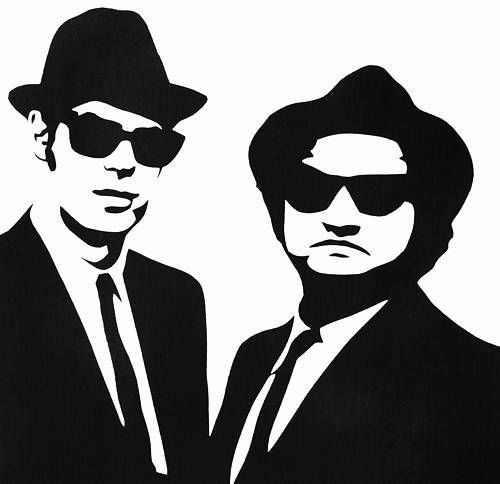 สำหรับJAKEและELWOOD #2 สติกเกอร์ไวนิลDECAL Blues Brothersขนาดต่างๆ