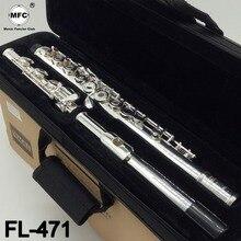 Музыка любитель клуб промежуточных стандартов флейта FL-471 студент флейты посеребренные 16 17 отверстий закрыты открытое отверстие с случае