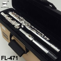 Music Fancier Club Intermediate Standards Flute FL 471 Student Flutes Silver Plated 16 17 Holes Closed Open Hole With Case