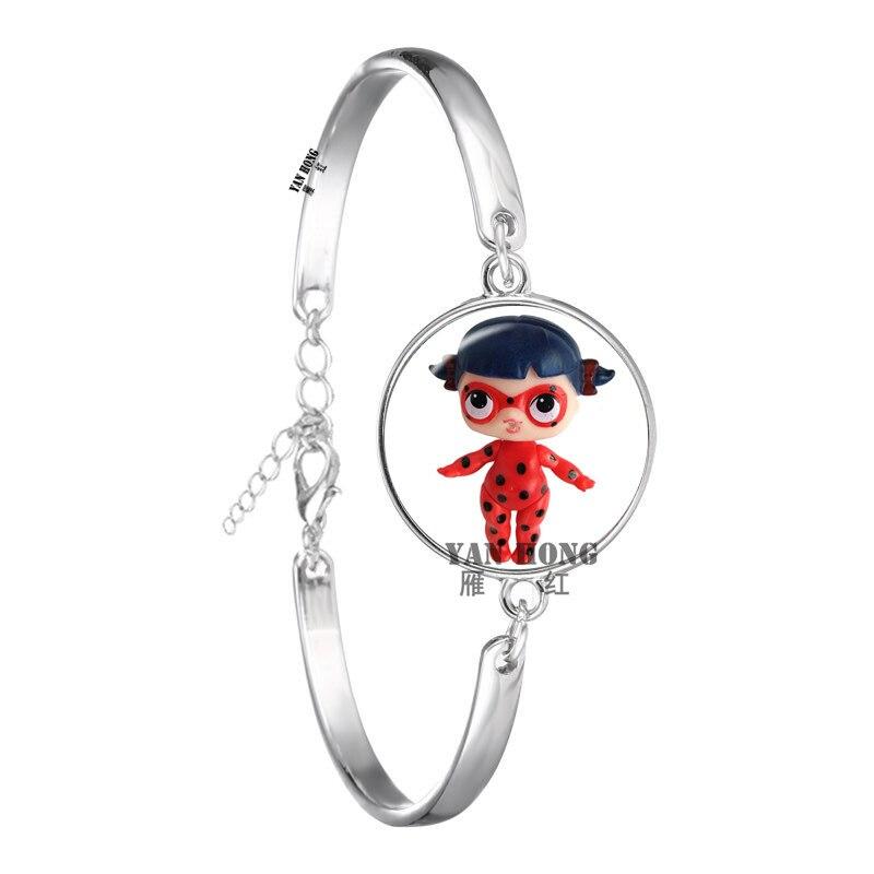 Красивый кукольный стеклянный браслет 20 мм стеклянный купол мультфильм ювелирные изделия круглый стеклянный браслет детский очаровательный подарок - Окраска металла: 10
