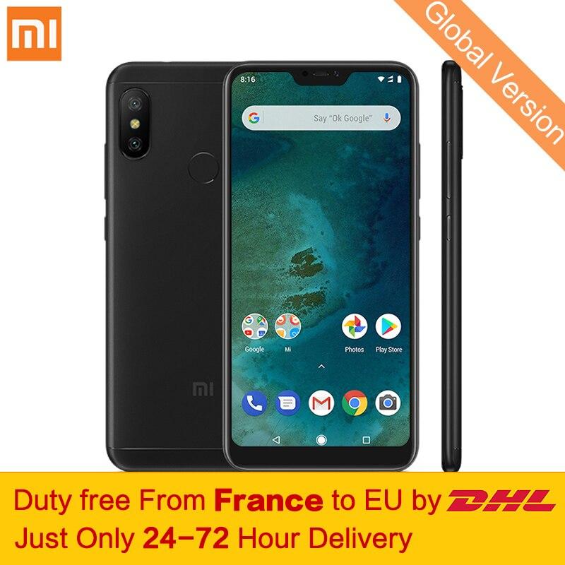 En franchise d'impôt! Mondial Version Xiao mi mi A2 Lite 3 gb 32 gb Mobile Téléphone Snapdragon 625 Octa base 5.84 Full écran 12MP + 5MP Double Caméra