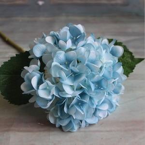 Image 4 - Fashion Artificial Hydrangea Flower Silk Cloth Plastic Wedding Supplies DIY Home Decoration For Birthday Party Festival Gift