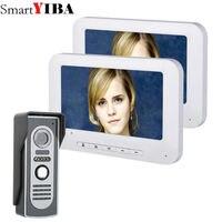 SmartYIBA 7'' Wired Visual Intercom Doorbell Indoor Monitor 700TVL Night View Door Phone Door Entry Security Intercom Kits