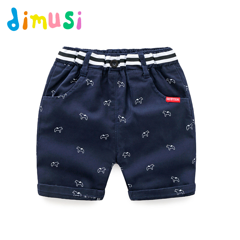 Dimusi 2018 summer boys   Shorts   printing cotton fifth pants Panties cool   Shorts   for Kids beach   Short   BC131