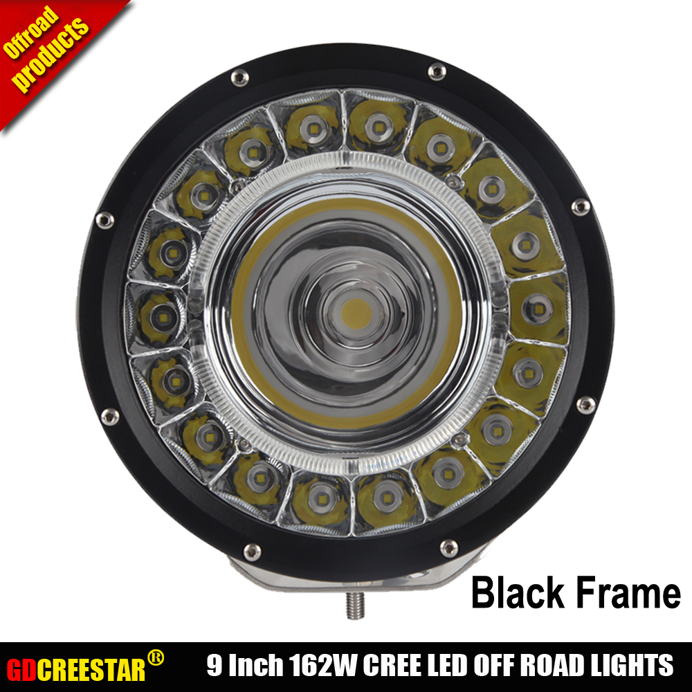 IP67 waterproof led driving light 9inch 162W Spot beam offroad led light for 12v 24v Boat Car Tractor Truck 4x4 SUV ATV x1pc 7inch 90w red black led spot driving work light for atv 4x4 boat off road head light truck car 4wd suv led offroad ligh x1pc