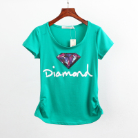 New Women Casual Summer Style T Shirt Women Short Sleeve Cotton T Shirt Top Tee