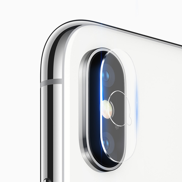 2PCS For iPhone X XS MAX 8 7 Plus Tempered Glass Protective Ring Camera Lens Screen Protector For iPhone XR iPhone XS