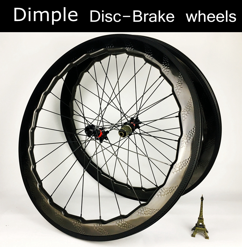 Disc brake 700C carbon wheelset 58mm carbon wheels tubeless disk rims road bike dimple wheel XDR