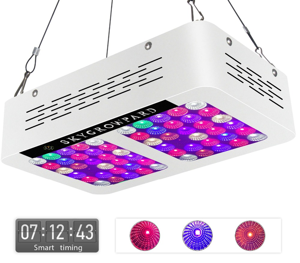 Artpad Double Chip 600W LED Grow Light Full Spectrum Plant Growing Lamp With Reflector and Timer for Greenhouse Indoor Planting 2pcs 30mil 10w 660nm plant grow lights led chip dc6 7v 1000ma excellent quality light source for plant grow faster and batter