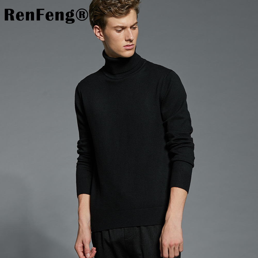 Winter Thick Warm Cashmere Sweater Men Turtleneck Mens Sweaters Plus Size Pullover Man Classic Wool Knitwear Thermal Pull Homme (17)