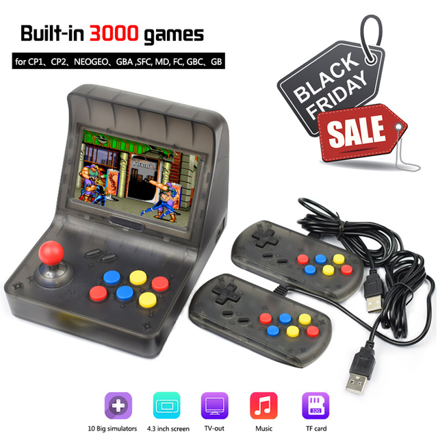 43ec9273adfe Mini Handheld Game Console Dual gamepad Retro Arcade 64 bit Video game  console 4.3
