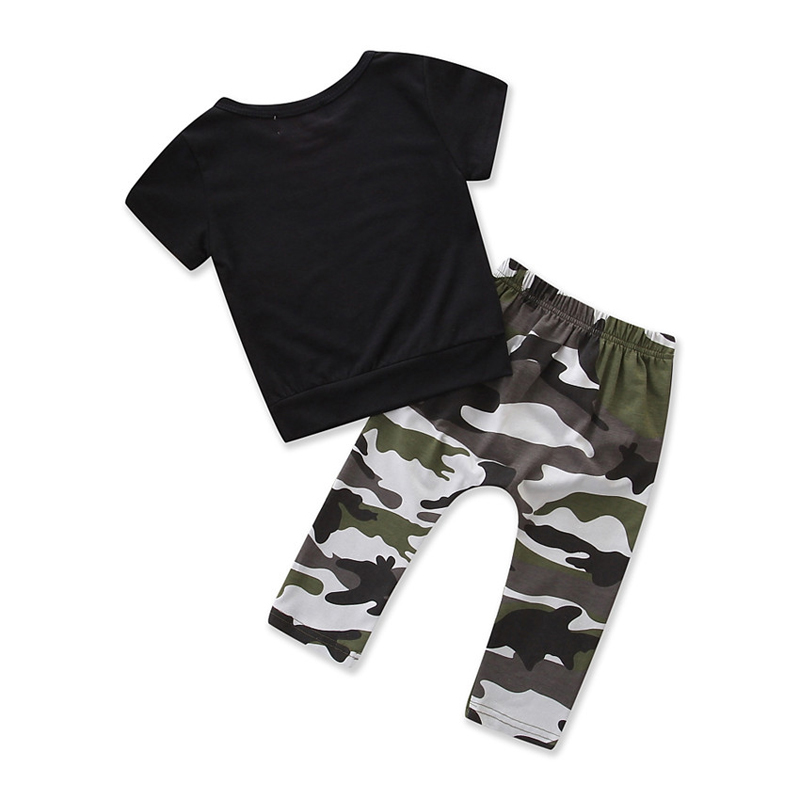 toddler boys clothing set Letter long sleeve T shirt Tops+Camouflage Pants Autumn Winter Children Kids Outfits Clothes Sets 5