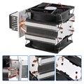 12 V 6A термоэлектрический полупроводник пельтье охладитель холодильная система охлаждения Комплект кулер вентилятор для воздушного охлажд...