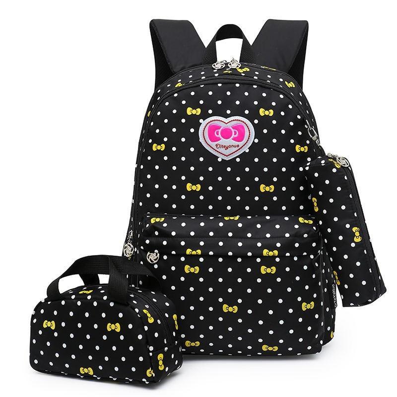 Children School Bags Teenagers Girls Printing Rucksack school Backpacks 3pcs/Set kids travel backpack Cute shoulder bag Mochila