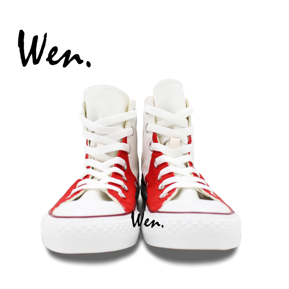 Wen Ručno oslikane cipele Dizajn Custom Vertical Francuska zastava - Tenisice - Foto 5