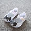 Mini Melissa 2017 Campana Zig Zag Jalea Sandalias de Las Muchachas Niños Zapatos Negro Hueco Zapatos de La Jalea de Melissa Zapatos de Los Niños Niñas