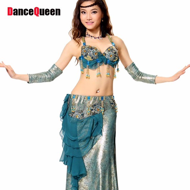 7b77c7eb26 Roupa Belly Dance Costume Set 3PCS Lady Indian Dresses Women Belly Dancing  Professional Practice/Performance