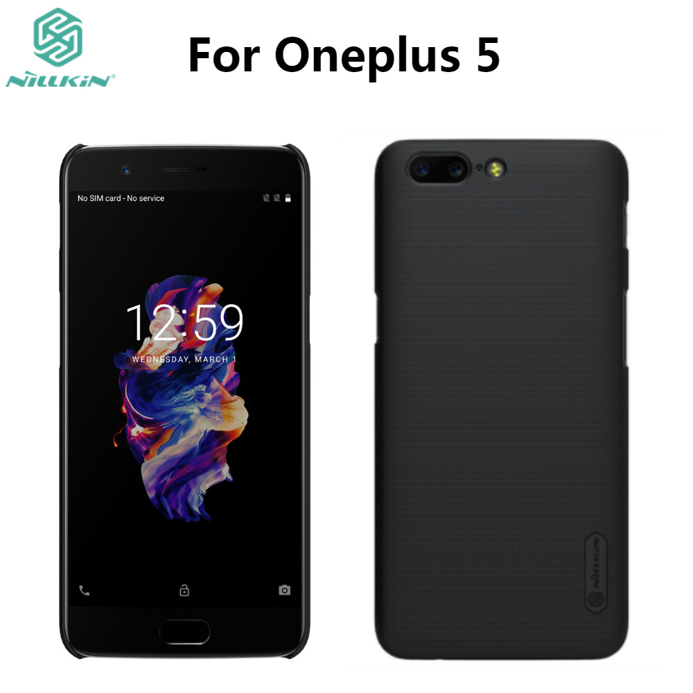<font><b>Oneplus</b></font> <font><b>5</b></font> Case One Plus <font><b>5</b></font> Cover Case Original NILLKIN Super Frosted Shield For Oneplus5 <font><b>A5000</b></font> Matte Case with Screen Protector image