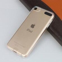 Capa de proteção transparente cristal, capa de tpu macia para apple ipod touch 5 6, capa itouch 5 5th 6th capa de pele clara fundas coque capa