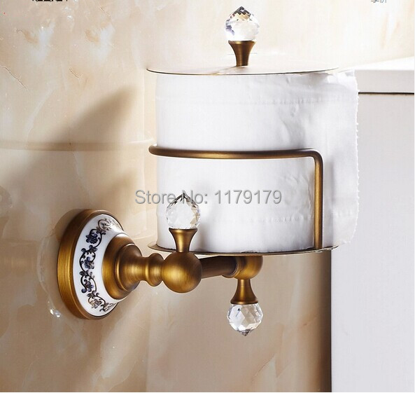 все цены на free shipping Europen  Classic style antique brass paper Roll Holder bathroom accessoriesTC6113 в интернете
