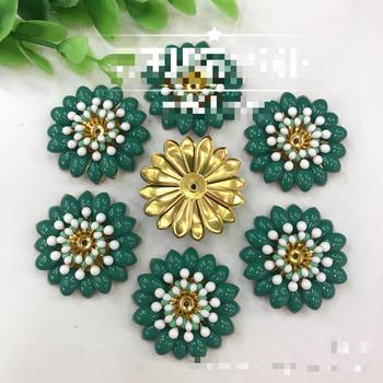 Drip Oil Metal Buttons For Clothing Flatback Flower Button Decorative Handmade Diy Sewing Bags Jewelry Hair Accessories Material