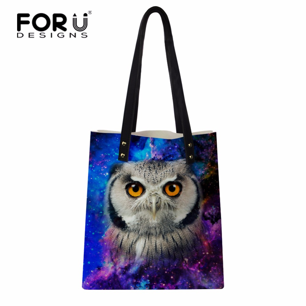 FORUDESIGNS Famous Brands PU Leather Handbags Popular Owl Designer Women Tote Bags Lady Shoulder Bags Female Shopping Bags