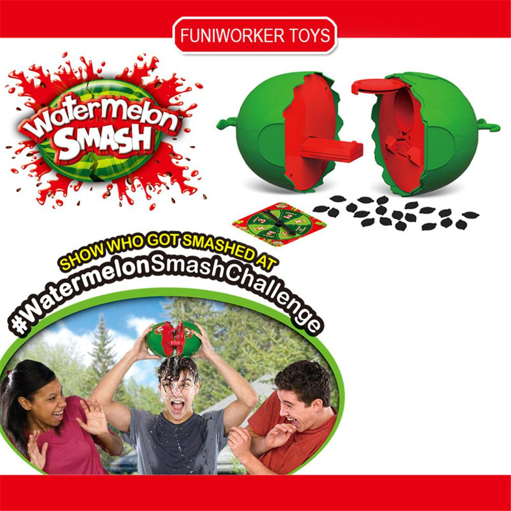 Watermelon Smash Gag Novelty Toys For Children Water Challenge Plastic Party Toy Friends Family Red Green Color Funny Tool