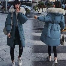Прочные длинные пальто на молнии с меховым капюшоном, женские повседневные теплые хлопковые пальто с длинным рукавом и шнуровкой, новые женские куртки