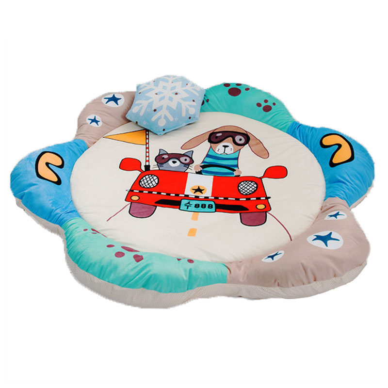 Cartoon Baby Crawling Game Blanket Playmat Cotton Padded Climbing Carpet Winter Warm Baby Home Gym Activity Play Mat