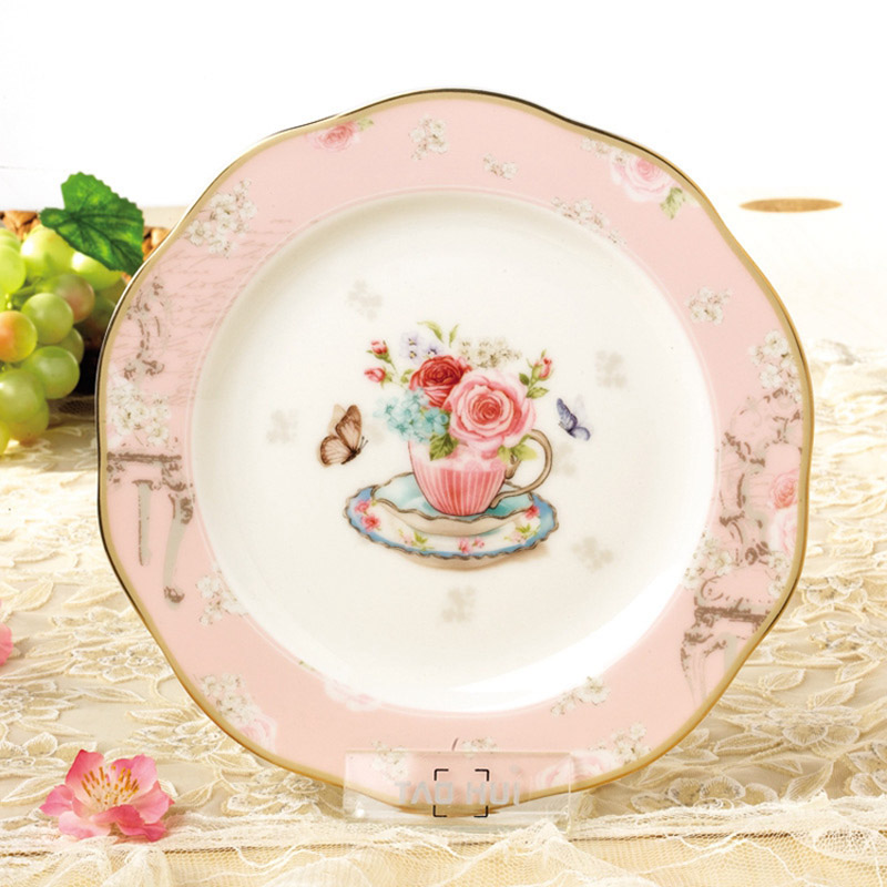 YeFine Creative Gift Bone China Ceramic Plate Kitchen Supplies Simple and Stylish Dessert Plate Dinner Plates u0026 Dishes For Snack-in Dishes u0026 Plates from ...  sc 1 st  AliExpress.com & YeFine Creative Gift Bone China Ceramic Plate Kitchen Supplies ...