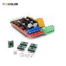 2019 Funcolor 3D Printer Parts RAMPS 1.4 3D PRINTER CONTROLLER+5pcs A4988 Drivers +5pcs Heatsink Kit for 3D Printer Accessories все цены