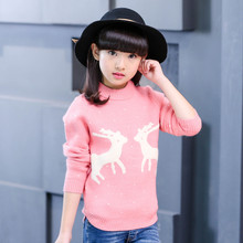 Kids Sweater For Girls Clothing Children Knitted Sweaters Autumn Winter Christmas Knitwear 4 8 10 12 14 Years School Clothes kids dresses for girls sweaters 2017 new autumn cotton sweater dress for girls clothing school kids clothes 10 11 12 13 14 years