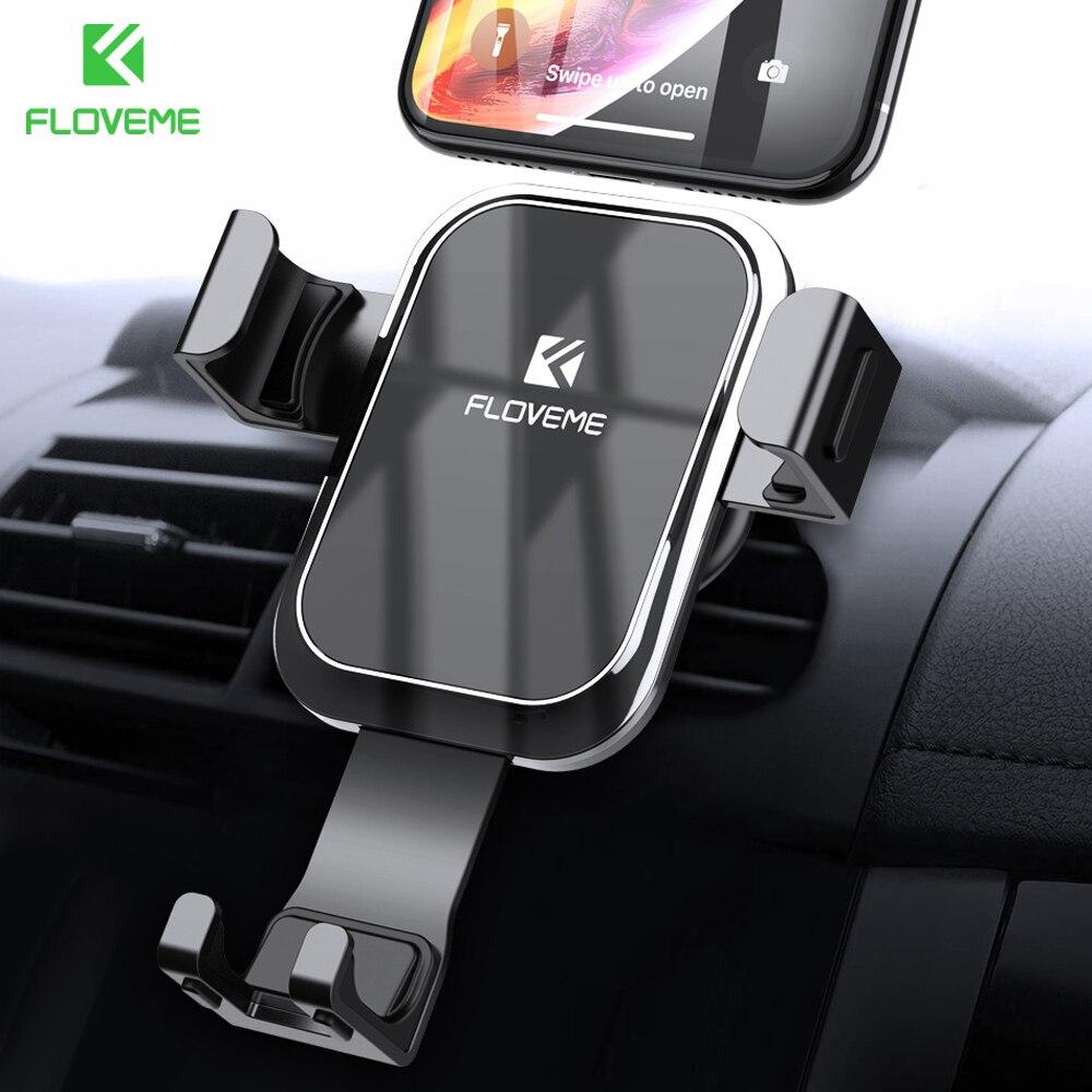 FLOVEME Gravidade Suporte Do Telefone Do Carro Suporte para Telefone Celular no Carro de Luxo Auto Bloqueado Suporte Do Espelho para o iphone Xiaomi telefon tutucu