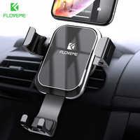 Floveme gravidade suporte do telefone do carro para o telefone móvel no carro de luxo auto bloqueado espelho titular para iphone xiaomi telefon tutucu