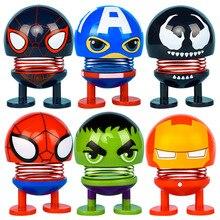 все цены на Avengers Endgame fun Iron SpiderMan Iron Man Captain America Hulk Thor Venom Toy Action Figure Model Car decoration figures онлайн