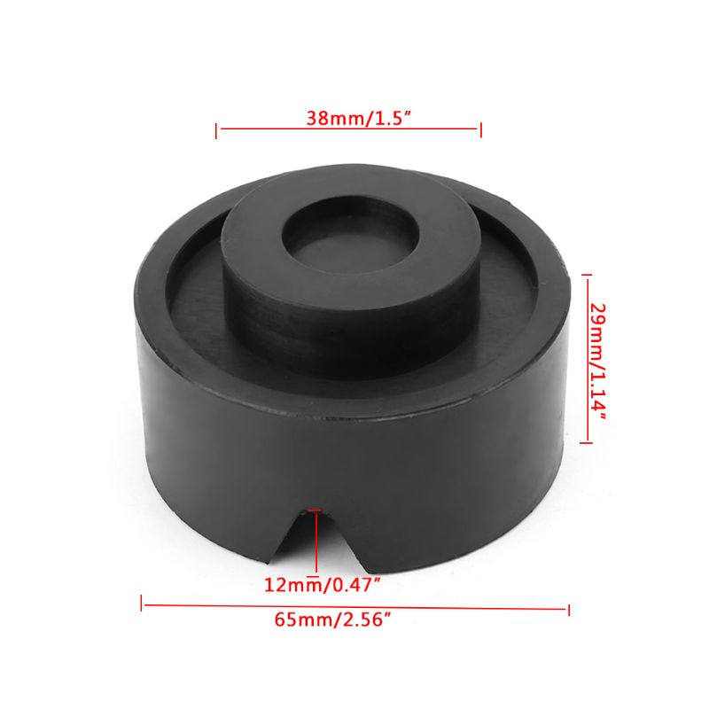 Black V-groove Car Jack Rubber Pad Anti-slip Rail Protector Support Block Heavy Duty For Car Lift