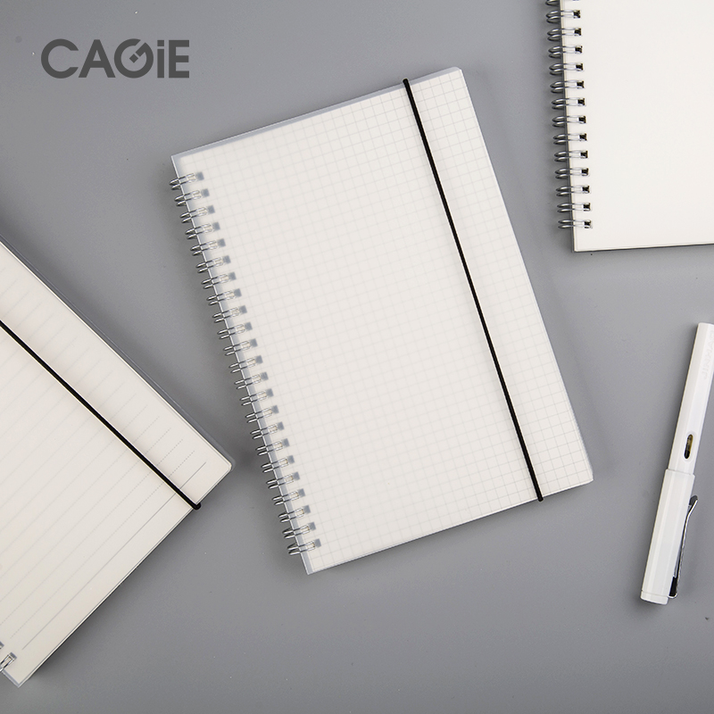 CAGIE New A5 Spiral book coil Notebook  Lined Blank Grid Paper Journal Diary Sketchbook For School Supplies Stationery store