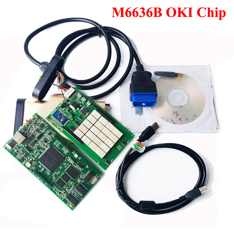 Подробнее о 2014.R2/2015.R1 Software TCS CDP With OKI (M6636B OKI Chip) + Bluetooth for Cars & Trucks CDP Pro SCANNER Free Shipping 5pcs lot 2015 1 2015 3 software tcs cdp pro with bluetooth for cars