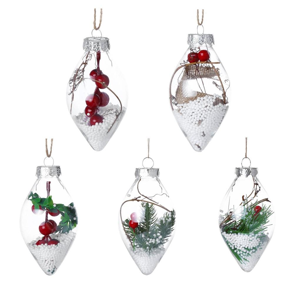 Christmas Tree Decorations Aliexpress: 1PCS Christmas Tree Drop Ornaments Plastic Ball